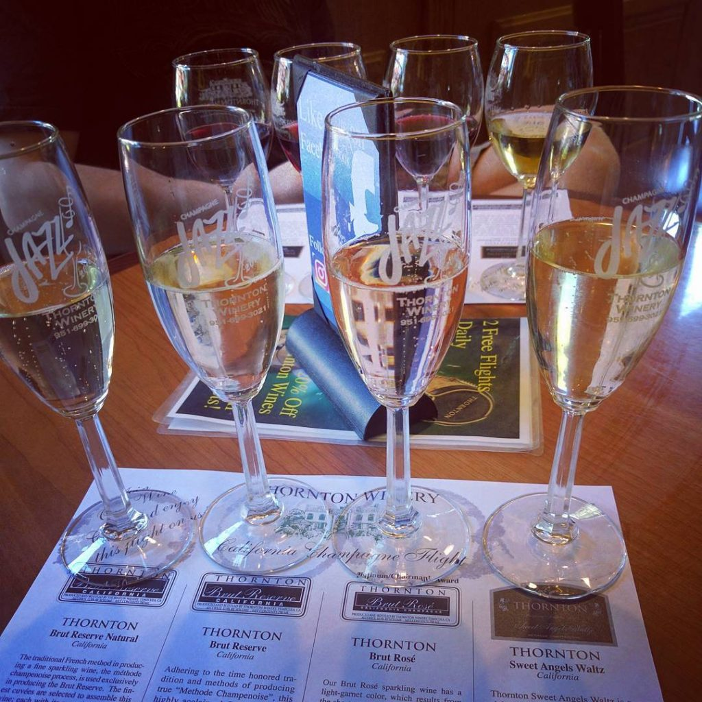 Thornton Winery Champagne Flight