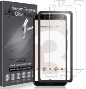 LK Screen Protector for Google Pixel 3 Tempered Glass