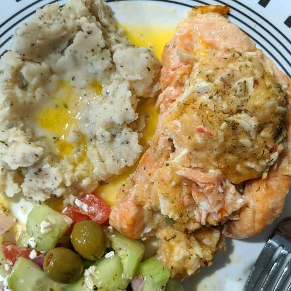 Read more about the article Stuffed Salmon Kirkland Signature Dish from Costco