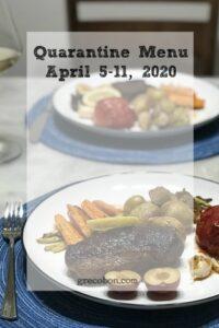 Quarantine Menu April 5-11