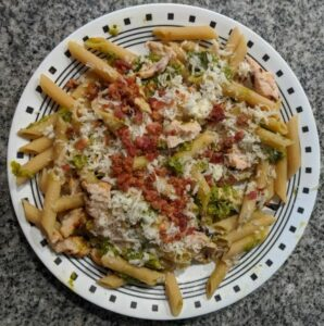 Chicken Bacon and Pesto Penne