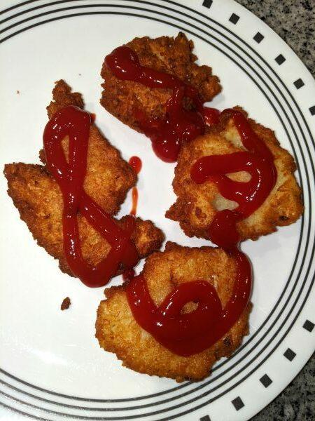 Bleenies - Potato Pancakes with Ketchup