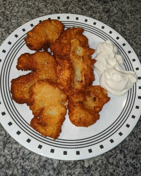 Bleenies - Potato Pancakes with Sour Cream