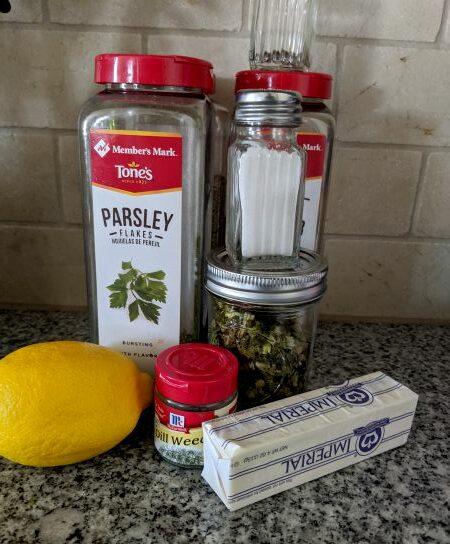 Butter, Lemon, Salt, and Herbs