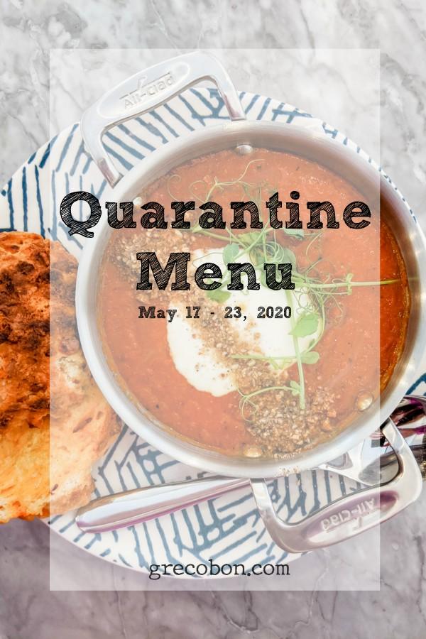 Quarantine Menu May 17-23