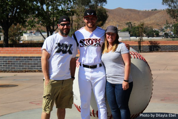 David Bednar with his Lake Elsinore Storm Host Family
