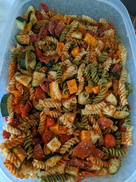 Tri Color Rotini Pasta Salad