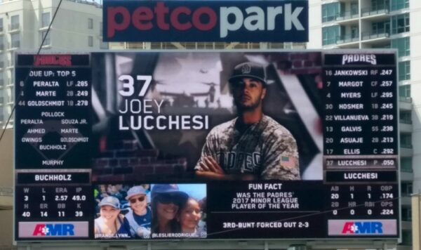 Joey Lucchesi Padres Debut