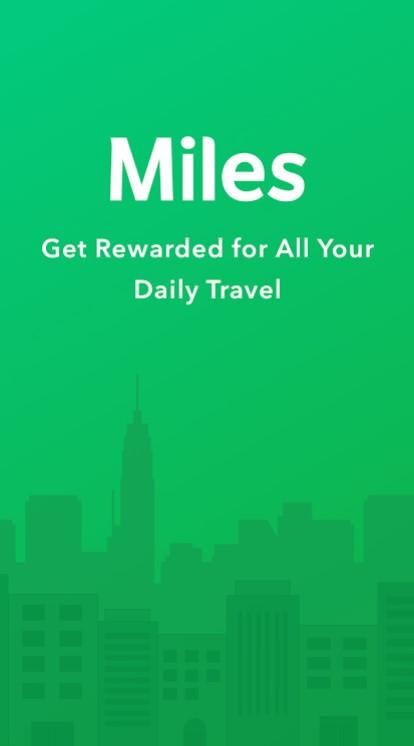 Miles App Main Screen