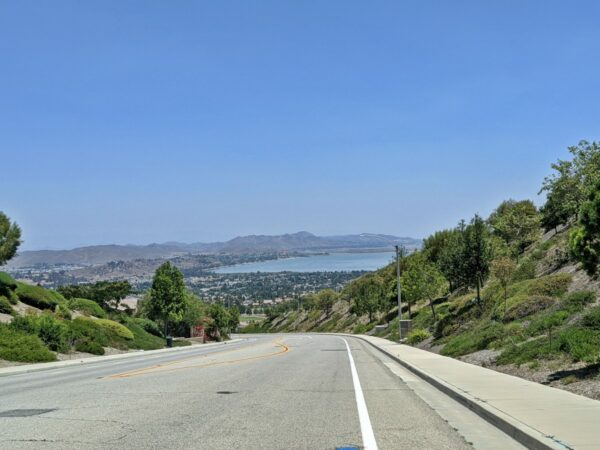 Lake Elsinore View from McVicker Canyon Park Road