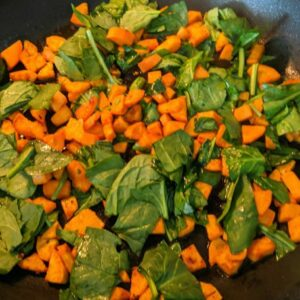 Spinach and Sweet Potato Omelette