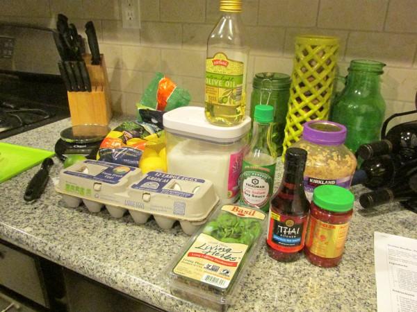 Drunken Noodles ingredients