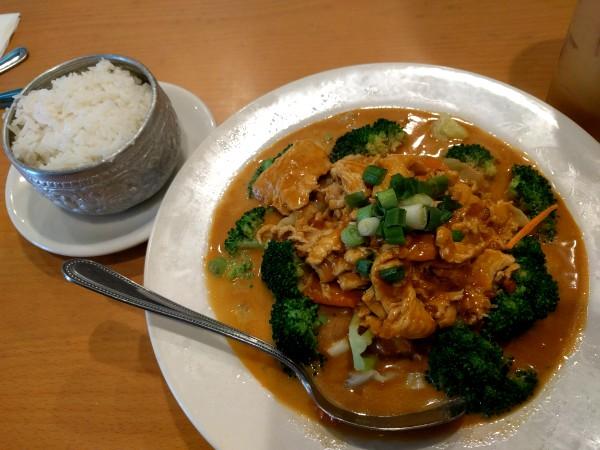 Pra Ram Chicken from Siam Thai Food, Temecula California
