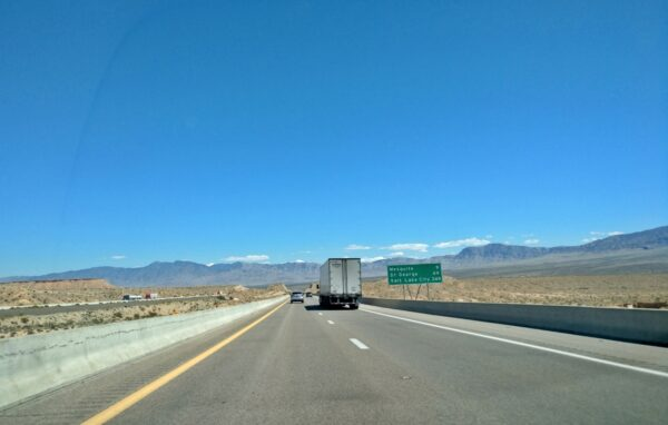 I-15 outside of Riverside, Nevada