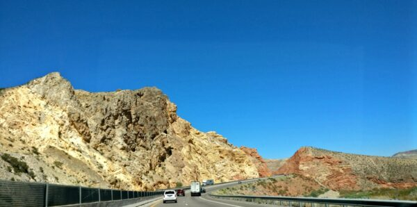 I-15 outside of Pintura, Utah