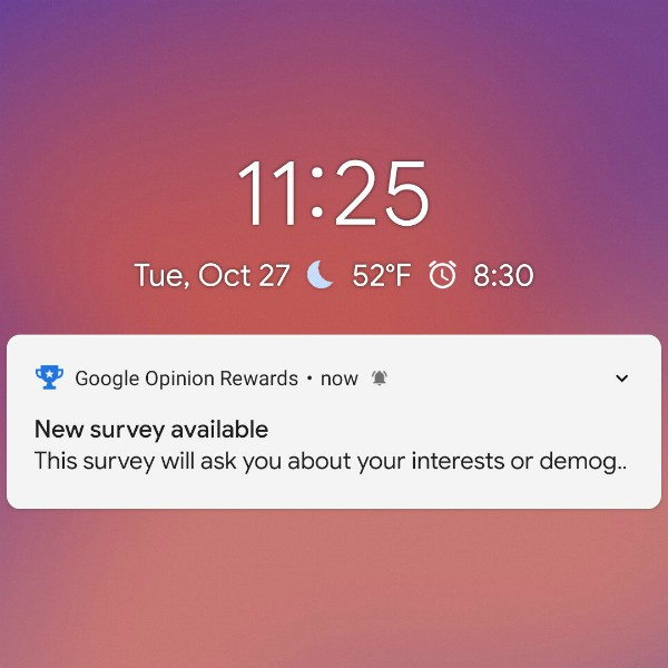 Google Opinion Rewards – Paid for your Opinion