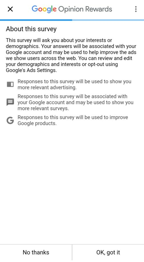 Google Opinion Rewards About