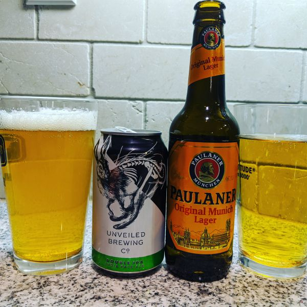 Beer Advent Calendar Unveiled Brewing Co Double IPA and Paulaner Original Munich Lager