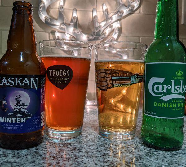 Beer Advent Calendar Alaskan Brewing Company Winter Ale and Carlsberg Group Premium Danish Pilsner