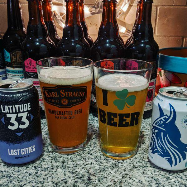 Beer Advent Calendar Latitude 33 Brewing Lost Cities Hazy IPA and Einstok Icelandic White Ale