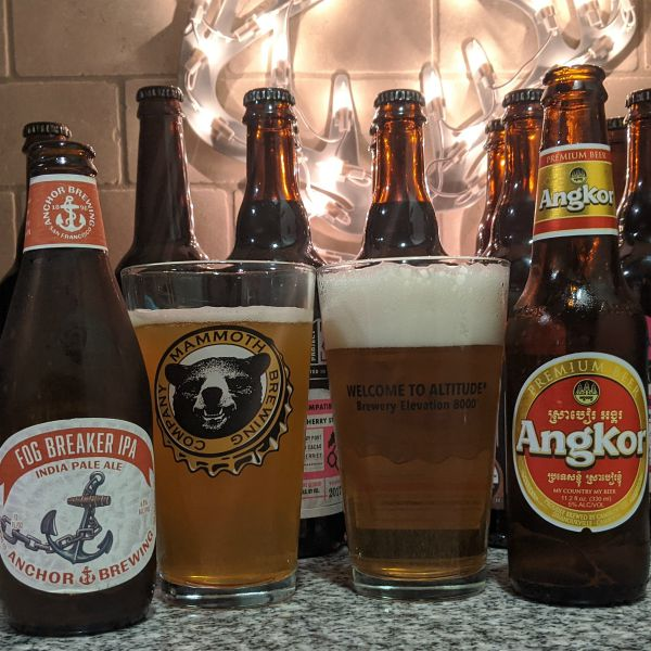 Beer Advent Calendar Anchor Brewing Company Fog Breaker IPA and Cambrew Angkor