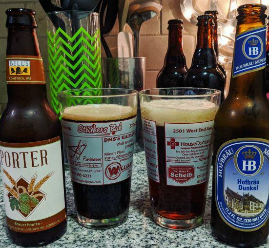 Beer Advent Calendar Bell's Brewery Porter and Hofbrauhaus Hofbrau Dunkel
