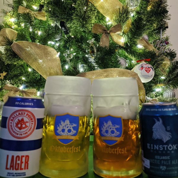 Beer Advent Calendar Ballast Point Lager and Einstok Icelandic Arctic Pale Ale