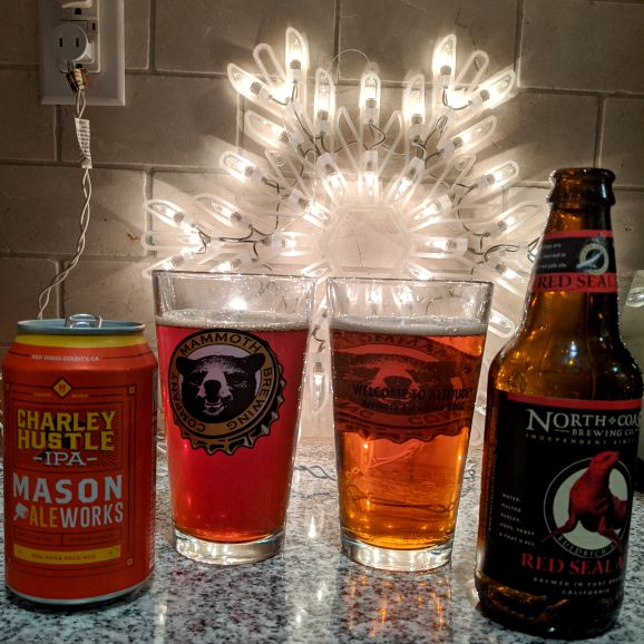 Beer Advent Calendar Mason Ale Works Charley Hustle and North Coast Ruedrich's Red Seal Ale