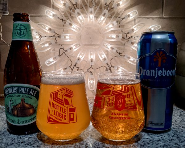 Beer Advent Calendar Anchor Brewing Company Brewers' Pale Ale and United Dutch Breweries Oranjeboom Lager