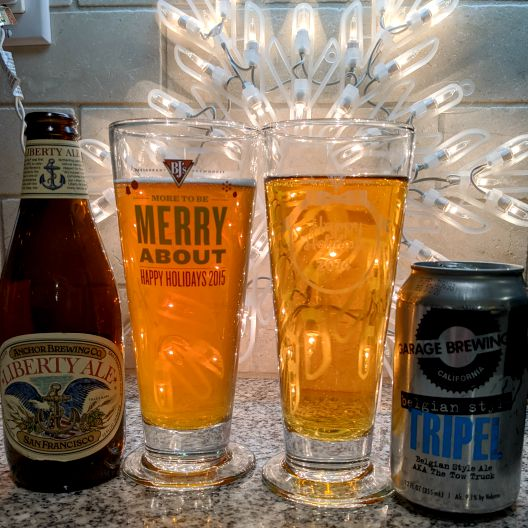 Beer Advent Calendar Anchor Brewing Company Liberty Ale and Garage Brewing Belgian Tripel aka The Tow Truck