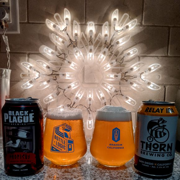 Beer Advent Calendar Black Plague Brewing Tropicus and Thorn brewing Company Relay IPA