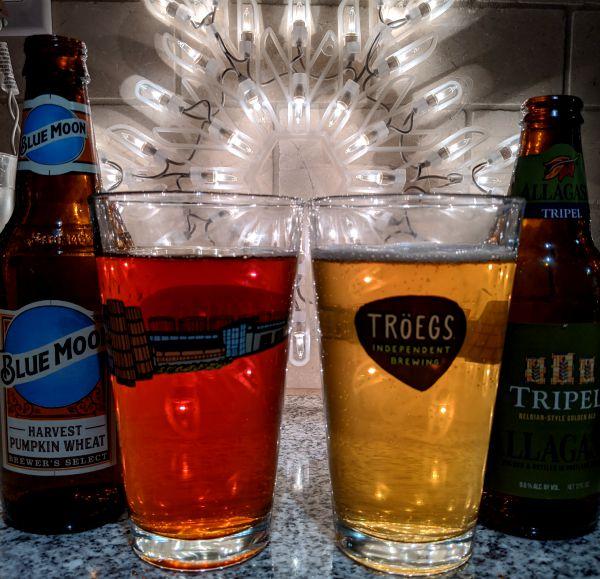 Beer Advent Calendar Blue Moon Harvest Pumpkin Wheat and Allagash Brewing Company Tripel