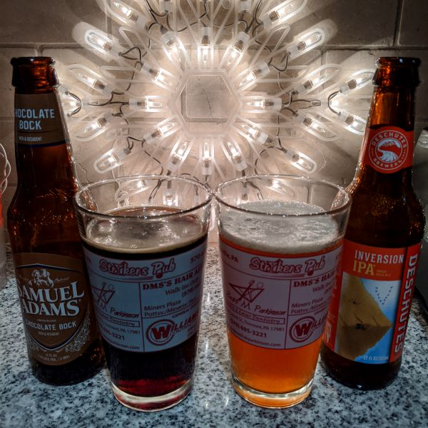Beer Advent Calendar Samuel Adams Chocolate Bock and Deschutes Brewing Inversion IPA