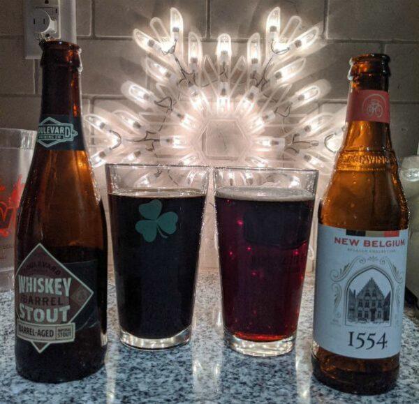 Beer Advent Calendar Boulevard Brewing Whiskey Barrel Stout and New Belgium 1554