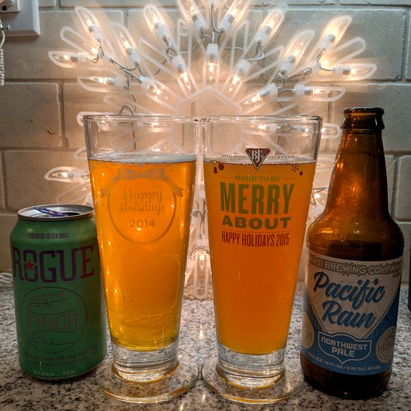 Beer Advent Calendar Rogue Just A Pinch and Ninkasi Brewing Compnay Pacific Rain Northwest Pale