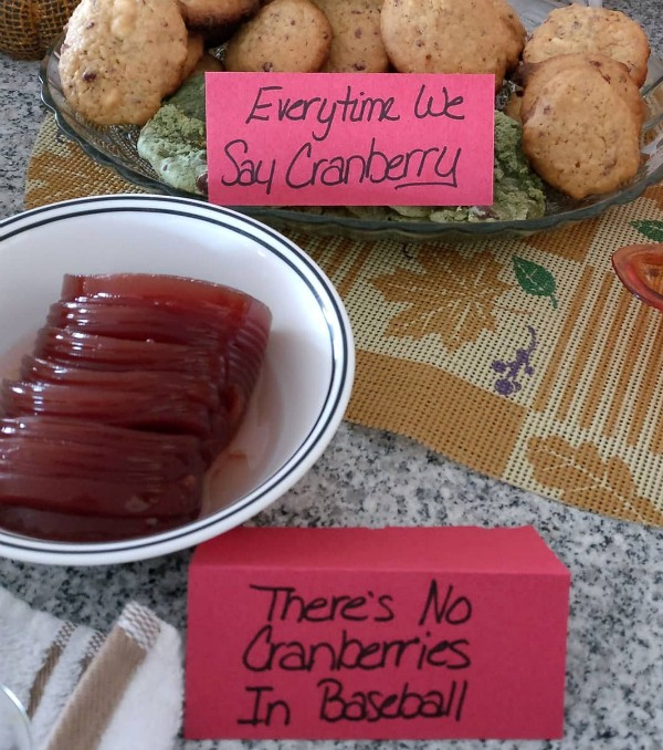 Tom Hanksgiving Everytime We Say Cranberry and Theres No Cranberries In Baseball. Cranberry Cookies and Sauce