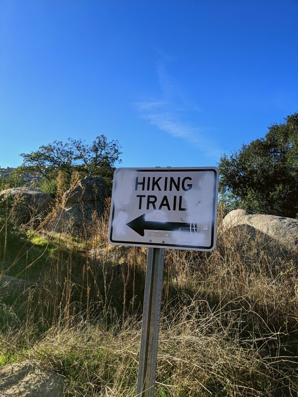 Starting at Mt. Woodson Trail to Potato Chip Rock