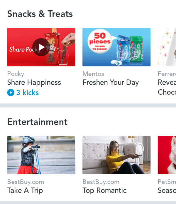 Shopkick Discover Section