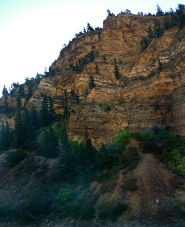 North of Glenwood Springs, Colorado on I-70