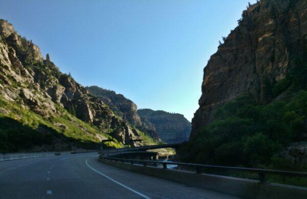 Scenery East of Glenwood Springs, Colorado on I-70