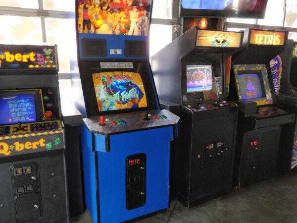 Wall of Arcade Games at Up Down Kansas City
