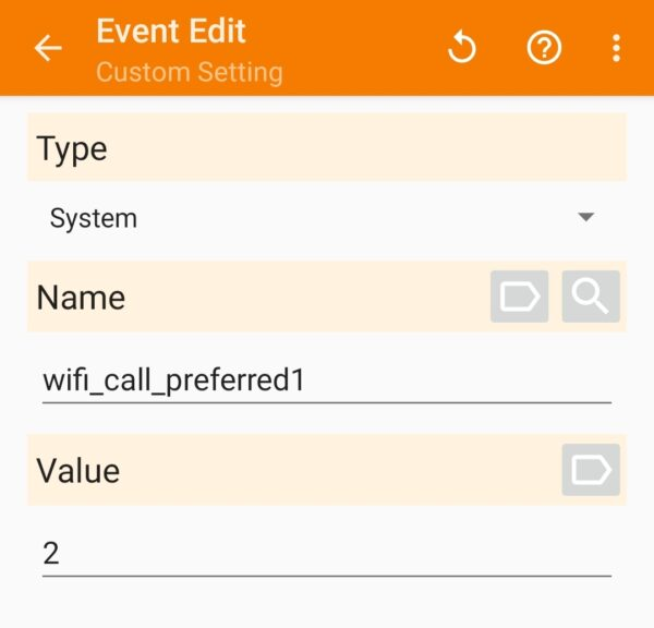 screenshot tasker profile event unlocked galaxy s20 wifi calling preferences changed