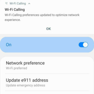 unlocked galaxy s20 wifi calling notification and preferences