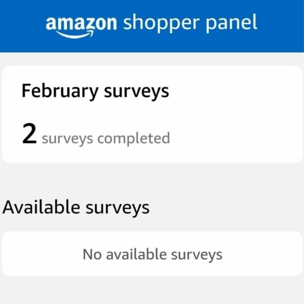 Amazon Shopper Panel Surveys
