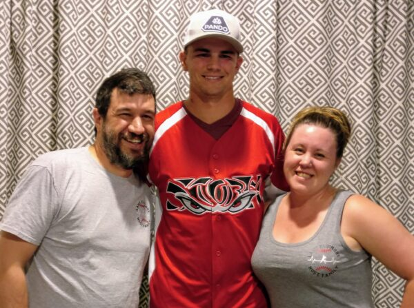Lora and Matt with Nick Kuzia - Our Third Year as a Host Family for the Lake Elsinore Storm