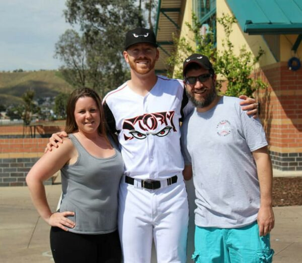 Lora and Matt with Steven Wilson - Our Third Year as a Host Family for the Lake Elsinore Storm