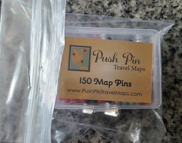 Push Pin Travel Map Pins