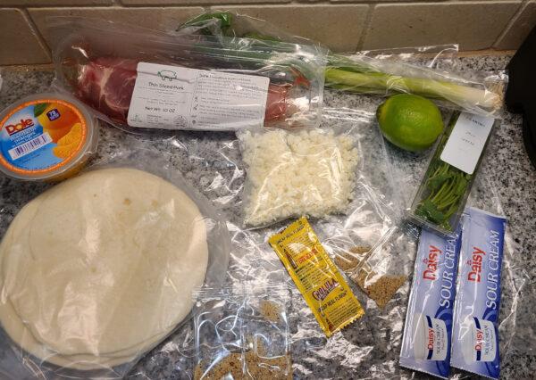 Mojo Pork Tacos Ingredients