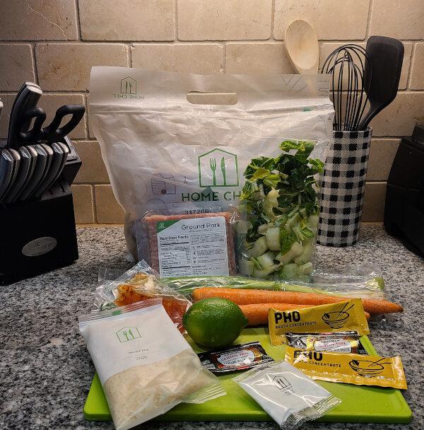 Thai-Style Pork Rice Bowl Home Chef Ingredients