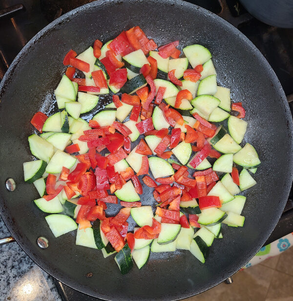 zucchini and red pepper together